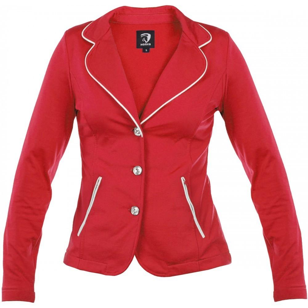 Veste de concours femme rouge